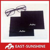 white logo printed microfiber cleaning cloth for lens glasses