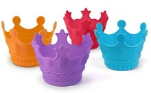 Silicone Colorful Crown Shaped Cake Molds,Silicone Baking Cups ,Silicone Cupcake