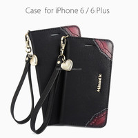 Factory Direct Supply 5.5 inch genuine leather phone case for iphone 6 plus