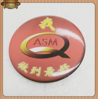 Promotion Metal Tin Button Badge, Custom Button Badge with Safety Pin ,Pin Button Badge Materials