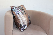 Luxury 100% silk nice quality peacoc pattern home family decor cushion