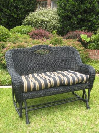 Pvc Steel Glider Patio Furniture