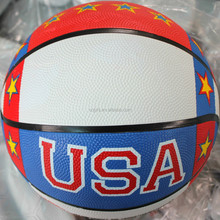USA star style colorful rubber basketball