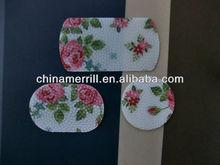 Flower printing mini silicon Car non slip mat