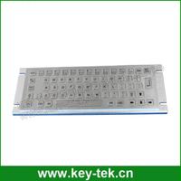 Compact short stroke vandal proof rugged industrial metal keys computer keyboards
