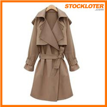 wholesale cotton long winter fashion Trenchcoat stock lot order cancelled shipment 150304-2