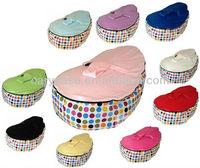 Baby Toddler Kids Portable Bean Bag Seat - Tutti Frutti / Light Pink , baby floor beanbag seat, kids soft seating