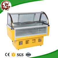LONGSHENGXI commerical cold deli freezer for meat with caster wheel