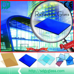 Guangyao High Quality DARK BLUEE REFLECTIVE GLASS (dark blue & ford /lake blue)