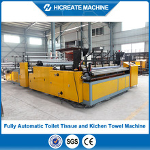 HC-TT machine for producing toilet paper