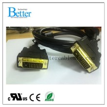 Special hot sale gold connects cable dvi for sale