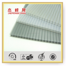Grey 4mm 6mm Polycarbonate PC green house Twin-wall lightweight Polycarbonate Plastic Hollow Sheet