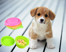 2015 silicone beautiful bowl for dog cat pet product of reasonable price
