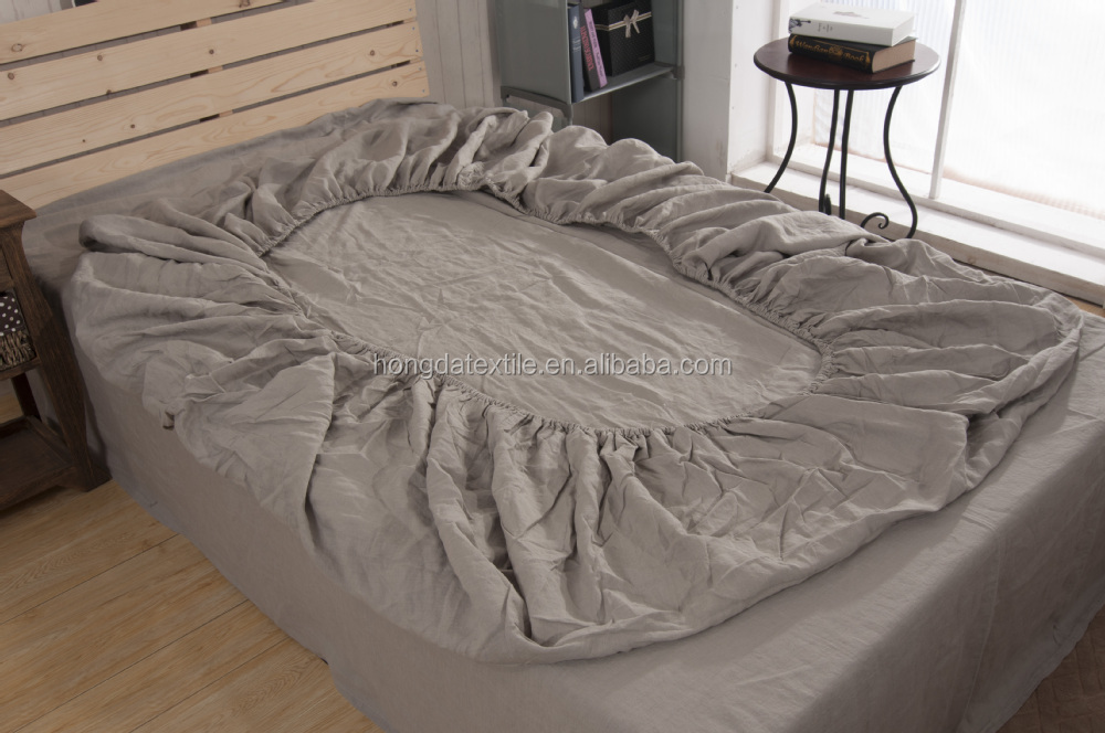 High Quality ... Stone Washed Flax Linen Bedding Set 8 ...