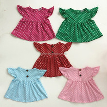 Hot sale Products 1-6 years old baby girl dress Polka Dot hand made baby girl dress toddler girls knit dress