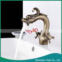 Newest Dragon Head Antique Brass Bathroom Faucet