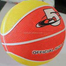 Excellent quality promotional top selling cheaper rubber basketball
