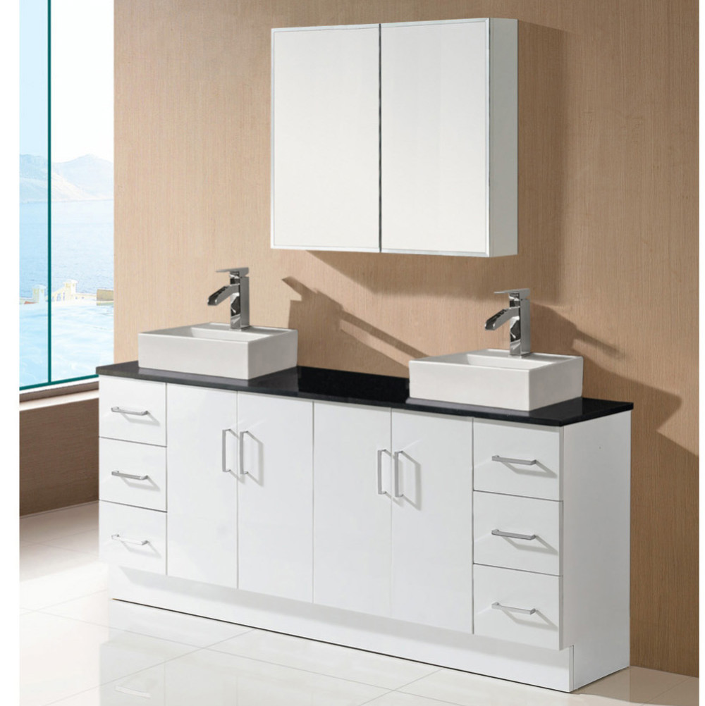 Wholesale factory price china commercial wall hung contemporary white double sink bathroom for Bathroom vanities china wholesale