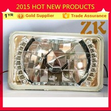 Halogen h4 bulb 12v 24v rectangular halo projector headlights