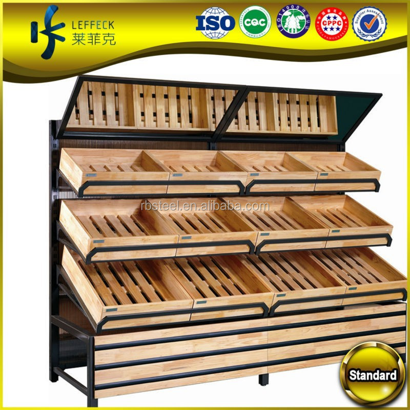 Super Markets Fruit Dispaly And Veg Display Wood