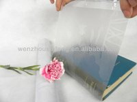 best quality custom clear/embossed school adhesive pvc book cover