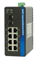 factory 8-port fiber optic switch for IP Camera with 1 Fiber Port, each PoE port Switch