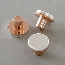 slide electrical silver contact /bimetal contact rivets round head