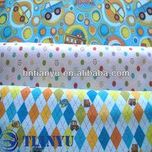 100% algodão tecido impresso tecido de flanela xadrez/dos desenhos animados, camisa de tecido, vário projeto