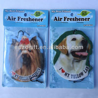 Guangzhou Bulk air freshener for car, promotional car air freshener with own logo