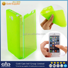 New Arrival Transparent Touch Screen Flip Case For LG L9 II D605