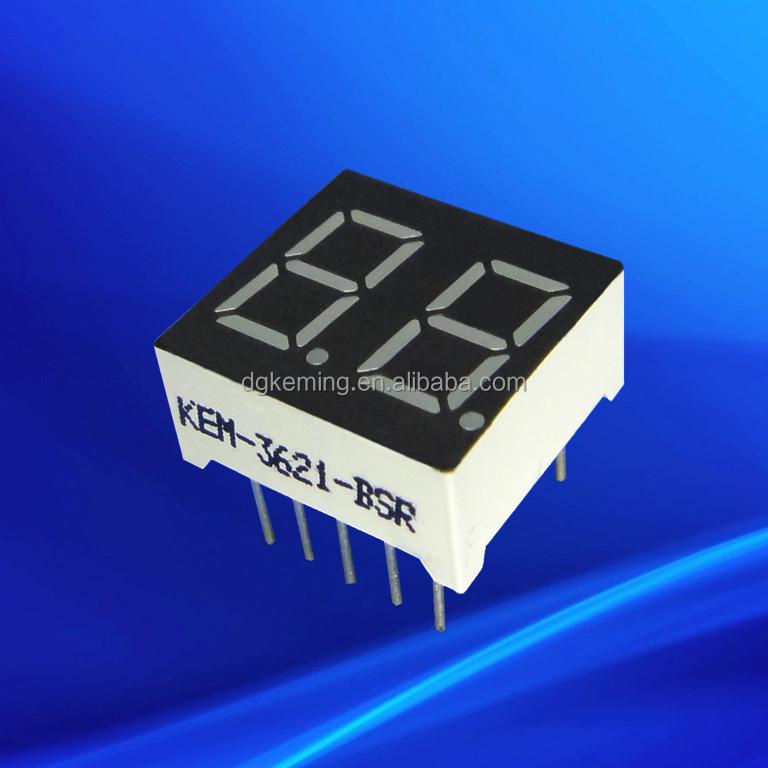 7 segment led display 0.36 inch digital 2 digit 0.36inch blue