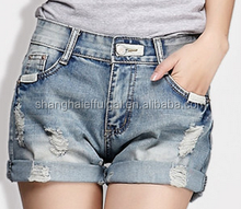 2015 Sweet heart high quality nice design jeans shorts for girls