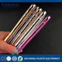 Newest Transparent TPU+PC Plating Metal Frame Bumper Case for iphone 6 metal plating bumper case