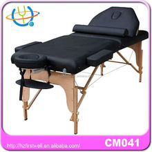 wooden bed for massage/portable massage bed salon equipment