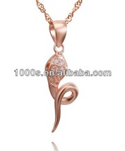 2014 New Arrival Ruby Snake Charm Necklace