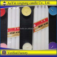 white candle crown candle party candle for hot selling