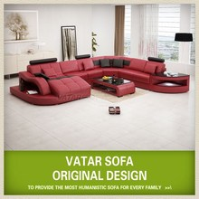 Import furniture from china, modern leather sofa H2217