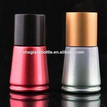 2014 nuevo diseño 12ml uv remoje del gel base de esmalte de uñas botella con la tapa y el fabricante de cepillo