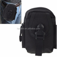 Multi-function High Density Strong Nylon Fabric Waist Bag / Camera Bag / Mobile Phone Bag, (black)