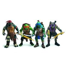 4 pcs a set TMNT Action Figure Teenage Mutant Ninja Turtles Classic Collection Toys