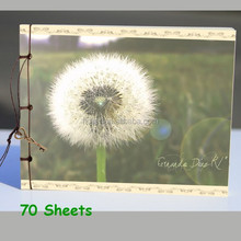 Wholesales 70 Sheets Chinese Style Dandelion Cover Page notebook draw book Blank Inner Page