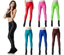 Atractivo de encargo caliente mujeres cremallera de cintura alta de la Yoga del deporte de las polainas