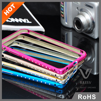 luxury diamond series bulk cell phone case, bling mobile phone case aluminum bumper case for iphone 6 plus 5.5 inch
