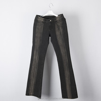 Jeans men knit denim jeans pants straight leg stripes at front and back made in china pantalones jeans