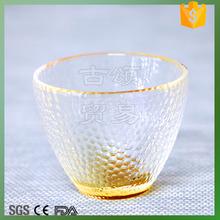 fancy design glass tea cup