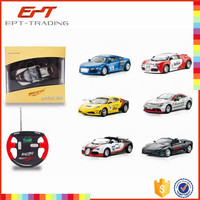 Wholesale 1:43 rc diecast model car 4ch remote control car toy with light