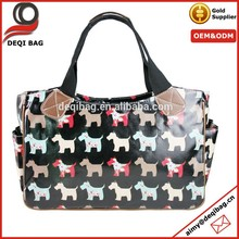 Ladies Oilcloth Dog printed Shopper Canvas Tote bag Oversized Bag