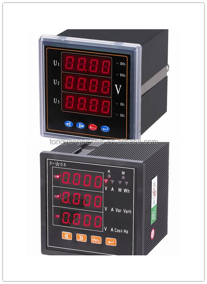 Industrial Energy Meters : Power meters panel industrial usage led display phase