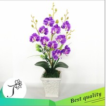 JY flower arrangement artificial flowers butterfly orchid in white pot