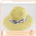 verão senhoras venda quente promocionais tecido chapéu de palha papel